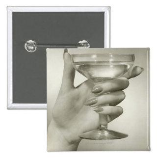 Martini Quadratischer Button 5,1 Cm
