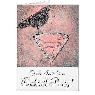 Martini-Vogel-Bad-Cocktail-Party laden ein Karte