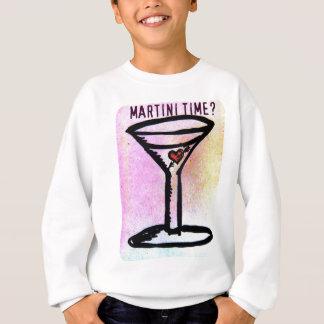 MARTINI-ZEIT-PASTELLdruck mit roter Herzkirsche Sweatshirt