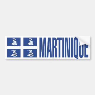 Martinique-Flagge Autoaufkleber