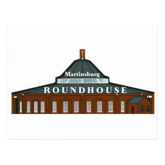 Martinsburg Roundhouse Postkarte