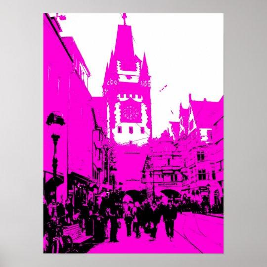 martinstor freiburg pink poster