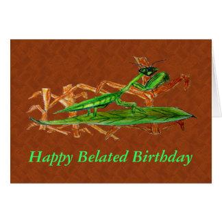 Marty der einmischende Mantis Karte