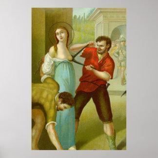 Martyrium von St. Agatha (M 003) Poster
