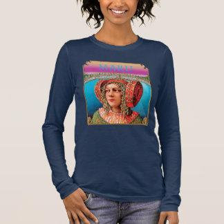 Maru exotisches Frau Boho lang sleeved T-Stück Langarm T-Shirt
