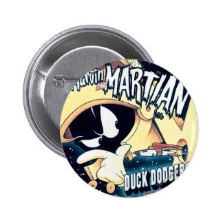 MARVIN DAS MARTIAN™, DAS DÄMLICHE DUCK™ und der Runder Button 5,1 Cm