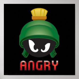 MARVIN das MARTIAN™ verärgertes Emoji Poster