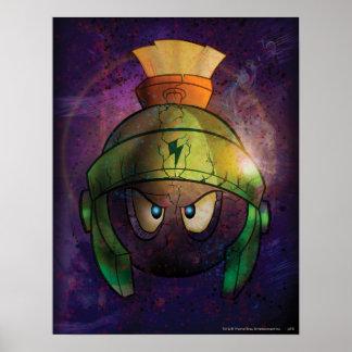 Marvin der Marskampf verhärtet Posterdruck