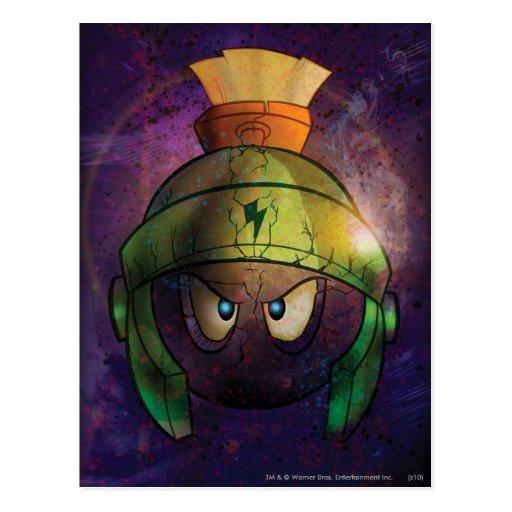 Marvin der Marskampf verhärtet Postkarte