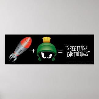 MARVIN die MARTIAN™ Emoji Gleichung Poster