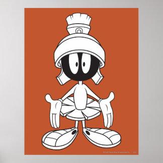 Marvin die offenen Marsarme Plakatdruck