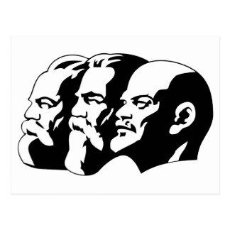 Marx, Engels et Lénin Postkarte