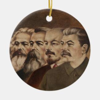 Marx, Engels, Lenin und Stalin Keramik Ornament