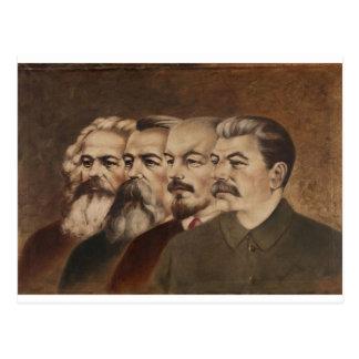 Marx, Engels, Lenin und Stalin Postkarte