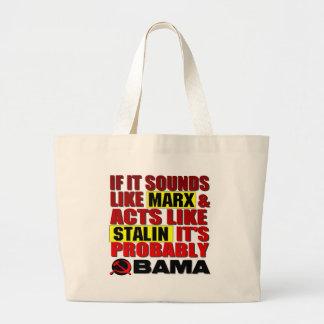 Marx, Stalin? Obama! Jumbo Stoffbeutel