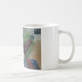 Mary Cassat- Lydia, der im Garten häkelt Kaffeetasse