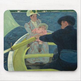 Mary Cassatt - das Bootfahrt-Party Mousepad
