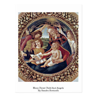 Mary, Christus-Kind und Engel durch Sandro Postkarte
