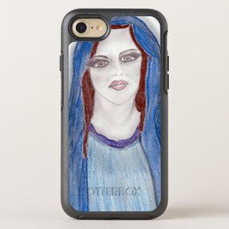 Mary im Blau OtterBox Symmetry iPhone 8/7 Hülle