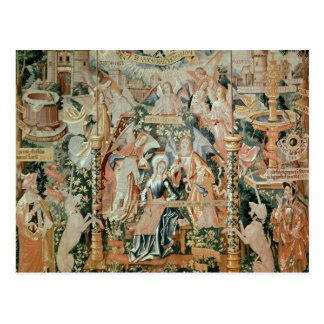 Mary im Tempel, Szenen vom Leben von Postkarte