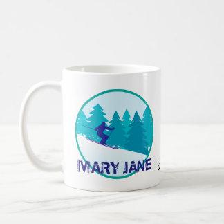 Mary Jane Ski-Kreis personalisiert Kaffeetasse