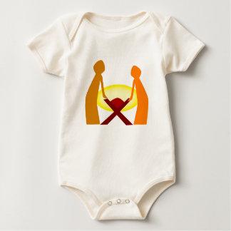 Mary Joseph und Baby Jesus Baby Strampler