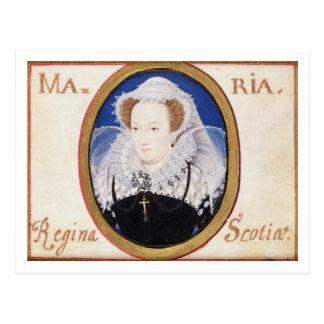 Mary-Königin der Schotten (1542-87) (Gouache auf Postkarte