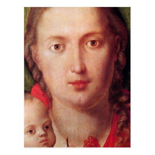 Mary mit der Gartennelke Postkarte