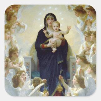 Mary mit Engeln - Regina Angelorum Quadratsticker