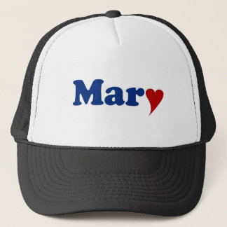 Mary mit Herzen Truckerkappe