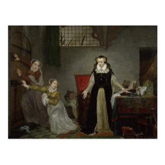 Mary Stuart am Moment des Verlassens für Postkarte
