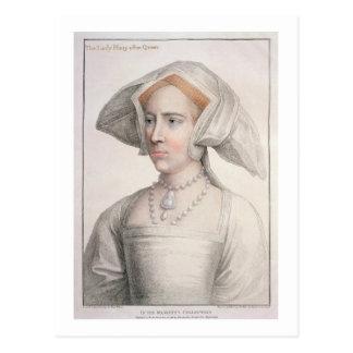Mary Tudor (1516-58) graviert von Francesco Postkarte