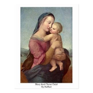 Mary- und Christus-Kind durch Raffael Postkarte