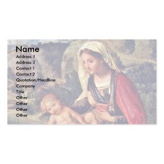 Mary und der Christus ChildIn eine Landschaft Visitenkarte