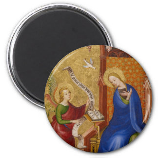 Mary und Engel der Ankündigung Runder Magnet 5,7 Cm