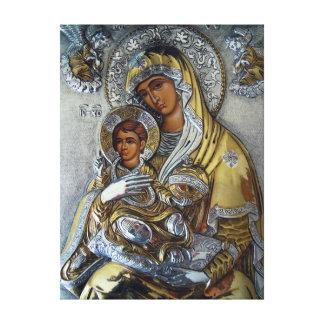 Mary und Jesus Leinwanddruck