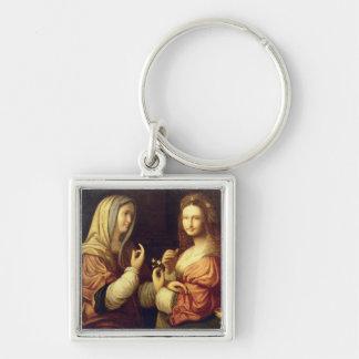 Mary und Martha (Öl auf Platte) Schlüsselanhänger