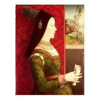 Mary von Burgunder-Tochter von Charles das mutige Postkarte