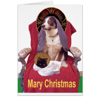 Mary-Weihnachten Karte
