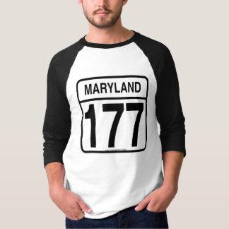 """""""Maryland 177"""" alte Schulbaseball-T-Stück T-Shirt"""
