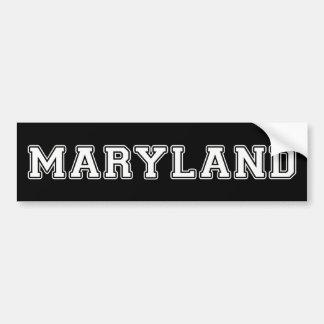 Maryland Autoaufkleber