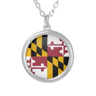 Maryland-Flagge Versilberte Kette