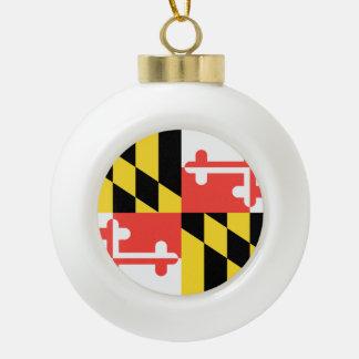 MARYLAND-Flaggen-Entwurf - Keramik Kugel-Ornament