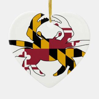 Maryland-Flaggen-Krabbe Keramik Ornament