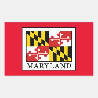 Maryland Rechteckiger Aufkleber