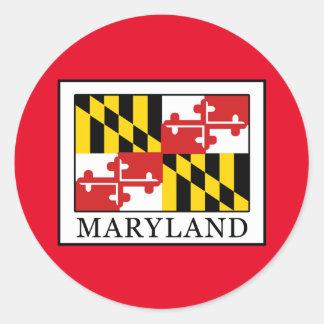 Maryland Runder Aufkleber