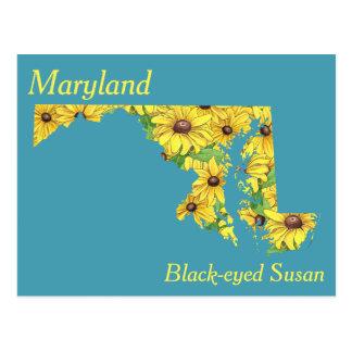 Maryland-Staats-Blumen-Collagen-Karte Postkarten