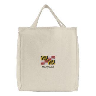 Maryland-Staats-Flagge Bestickte Taschen