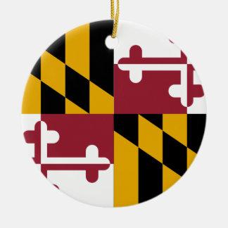 Maryland-Staats-Flagge Keramik Ornament