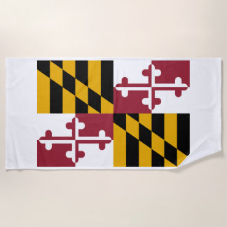 Maryland-Staats-Flagge Strandtuch